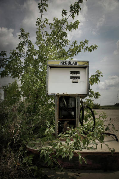 Damaged Photograph - Old Gas Pump by Darren Greenwood