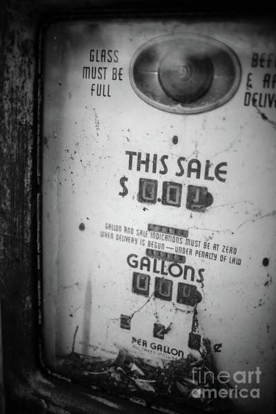 Photograph - Old Gas Pump Escondido by Edward Fielding