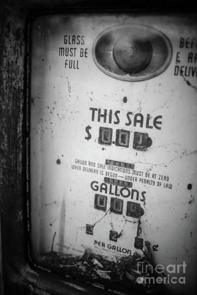 Pump Photograph - Old Gas Pump Escondido by Edward Fielding