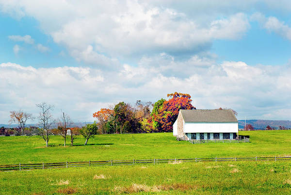 Wall Art - Photograph - Old Gettysburg Battlefield Barn by Paul W Faust - Impressions of Light