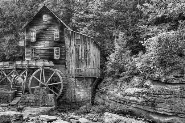 Photograph - Old Glade Creek Mill Monochrome by Gregory Ballos