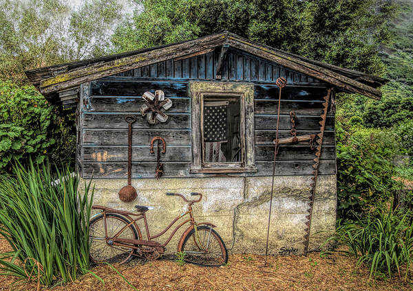 Photograph - Old Glory Bicycle Cabin by Floyd Snyder