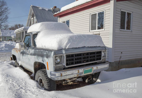 Wall Art - Photograph - Old Gmc Pickup Truck In The Snow Windsor Vermont by Edward Fielding