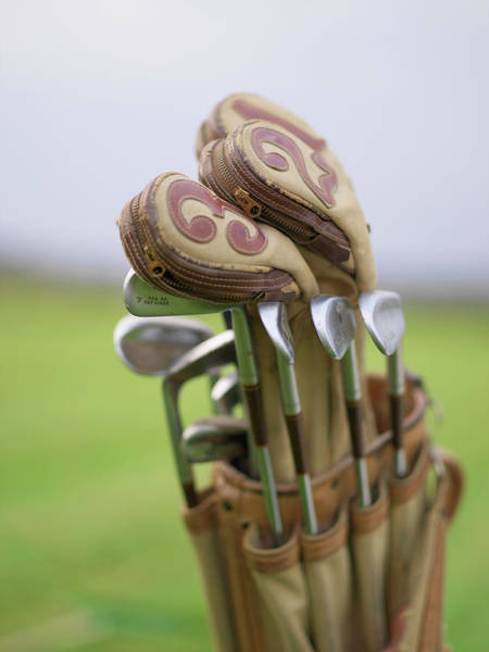 Golf Photograph - Old Golf Clubs In A Golf Bag, Sweden by Johner Images