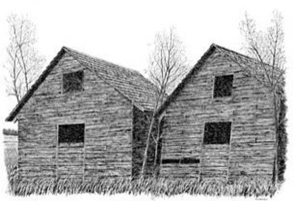 Wall Art - Drawing - Old Graineries by Ed Einboden