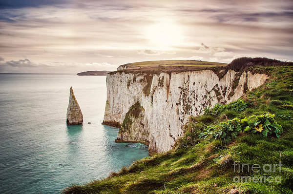 Wall Art - Photograph - Old Harry Rocks, Located At Handfast by Dafinka