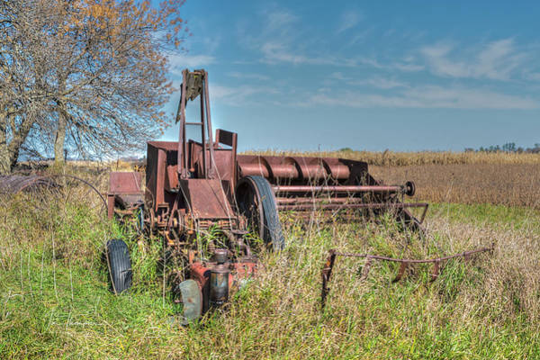 Photograph - Old Hay Baler by Jim Thompson