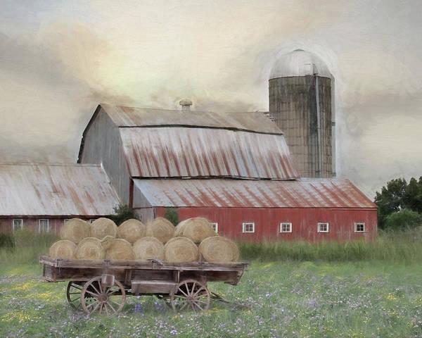 Wall Art - Mixed Media - Old Hay Barn by Lori Deiter
