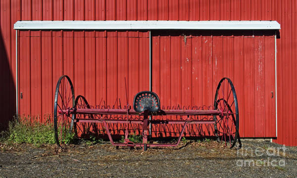 Photograph - Old Hay Rake by Mark Miller