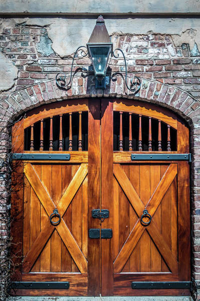 Photograph - Old Historic Castle Wood Door Entry Way by Alex Grichenko