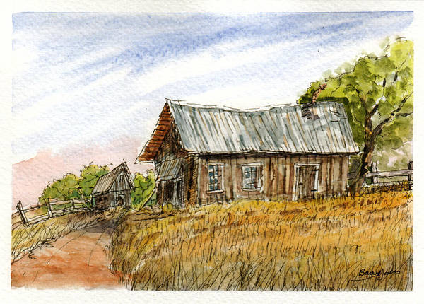 Painting - Old Homestead by Barry Jones
