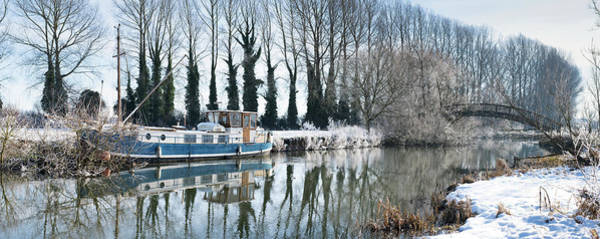 Photograph - Old House Boat On The River Thames In Winter by Tim Gainey