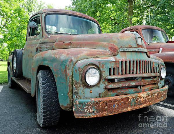 Wall Art - Photograph - Old International Pick-up Truck by Steve Gass