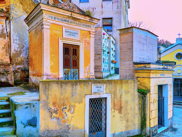 Photograph - Old Italian Mausoleums by Dominic Piperata