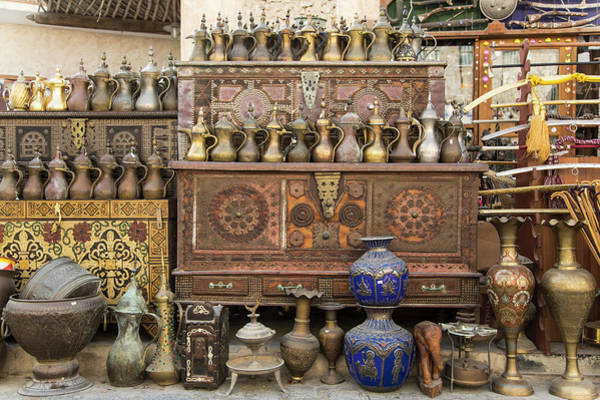 Retail Photograph - Old Items On Sale In Waqif Souk by Buena Vista Images