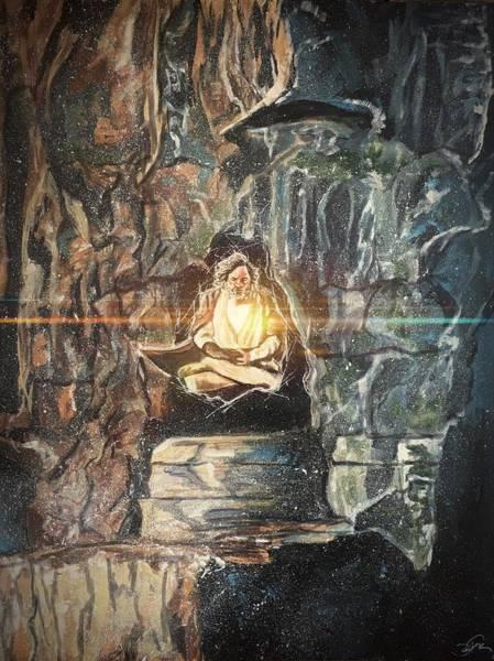 Painting - Old Jedi Mind Trick by Joel Tesch