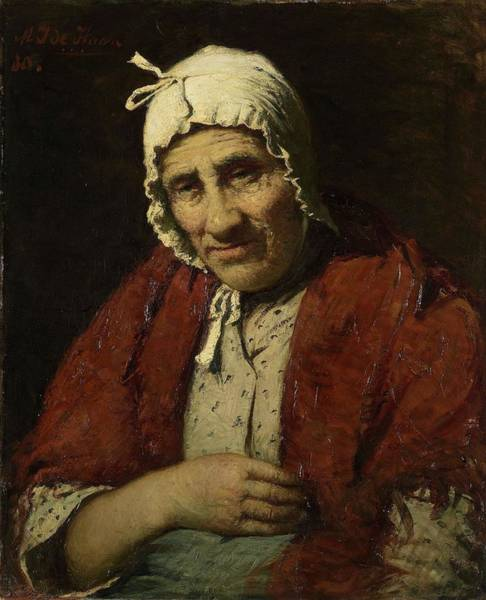 Meijer Painting - Old Jewish Woman. by Meijer Isaac de Haan -1852-1895-