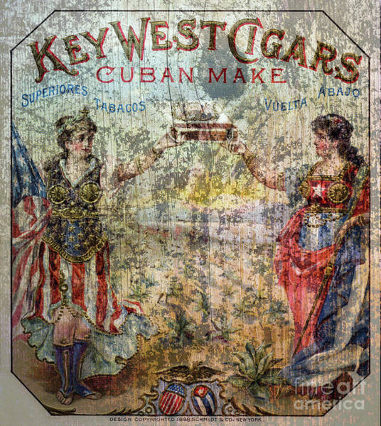 Wall Art - Photograph - Old Key West Cigars Advertisment by Jon Neidert