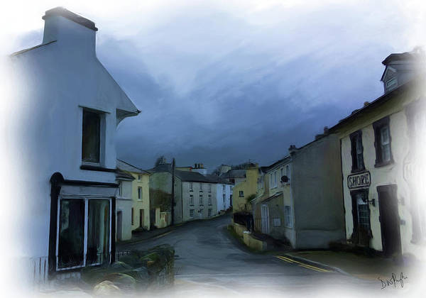 Wall Art - Digital Art - Old Laxey Village 1 by Digital Painting