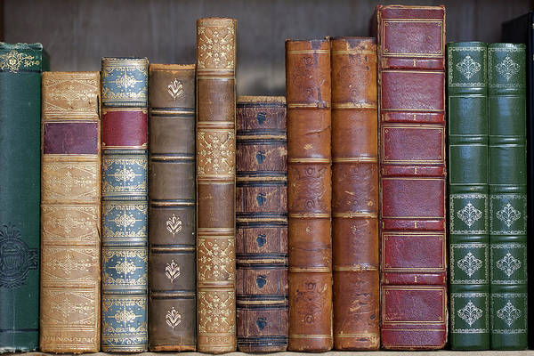 Poetry Photograph - Old Leather Bound Books by Andrew howe