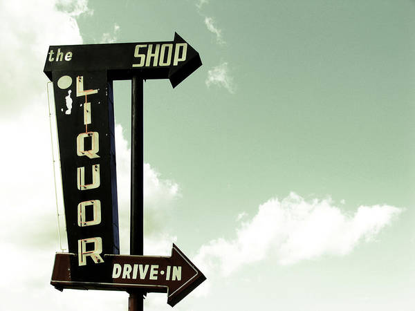 Alcohol Photograph - Old Liquor Store Sign by Kevinruss