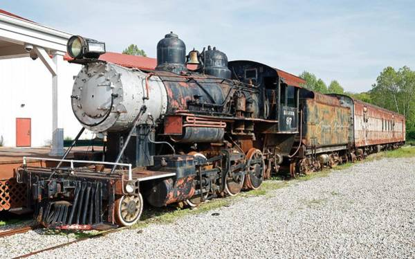 Wall Art - Photograph - Old Locomotive At French Lick Scenic Railroad, Indiana. by Steve Gass