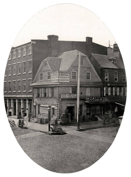 Mixed Media - Old London Coffee House, Philadelphia by Thomas S Hacker