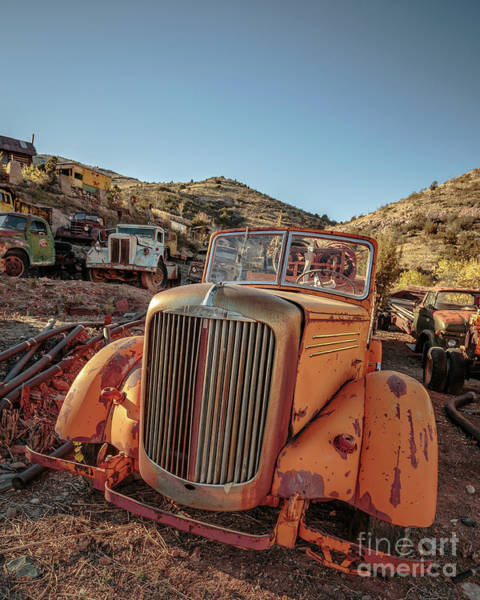 Fire Truck Photograph - Old Mack Fire Engine Abandoned In Arizona by Edward Fielding