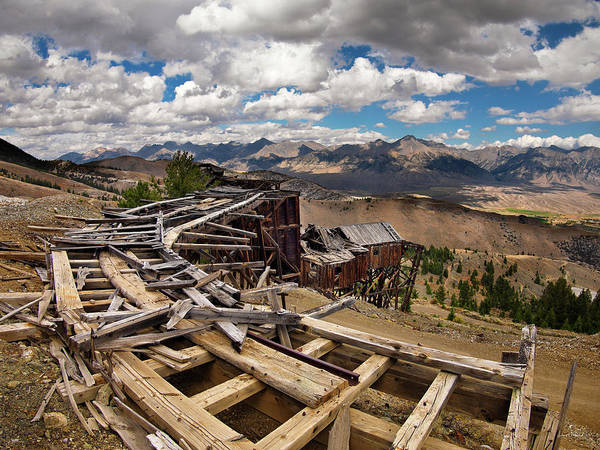 Pioneer Mountains Wall Art - Photograph - Old Mackay Mine Ore Tramway by Leland D Howard