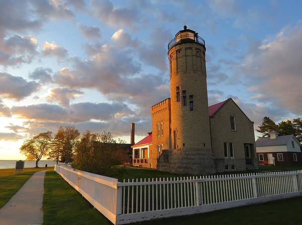 Photograph - Old Mackinac Point Lighthouse Sunrise by Keith Stokes