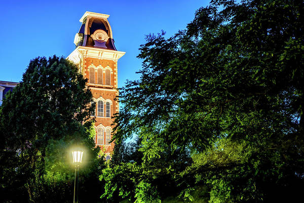 Photograph - Old Main Evening Light - University Of Arkansas In Fayetteville by Gregory Ballos