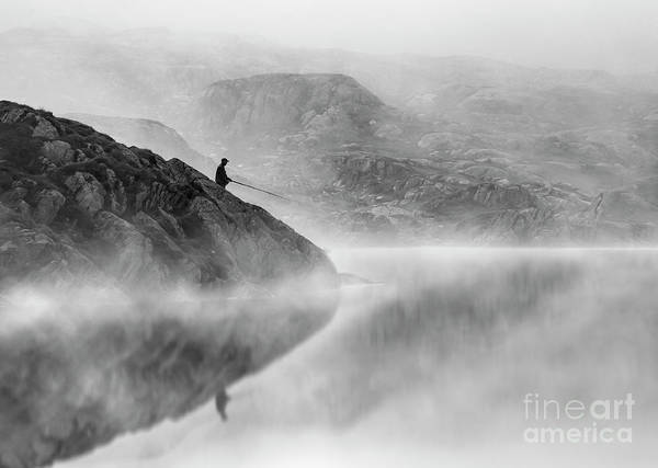 Photograph - Old Man And The Lake by Peng Shi
