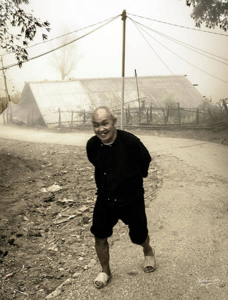 Wall Art - Photograph - Old Man On Sapa Road, Vietnam by Madeline Ellis