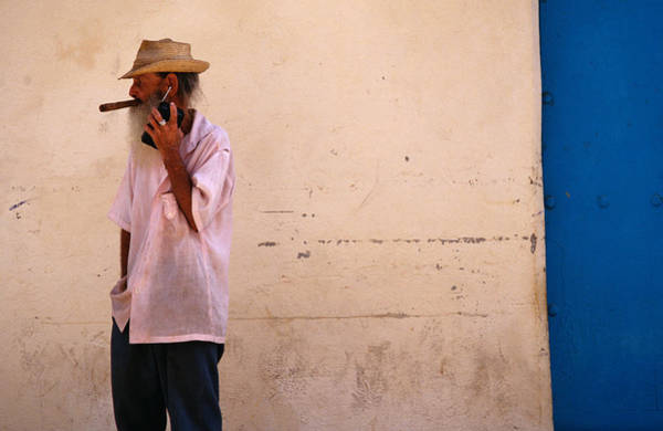 Latin America Photograph - Old Man With Transistor Radio And by Dominic Bonuccelli