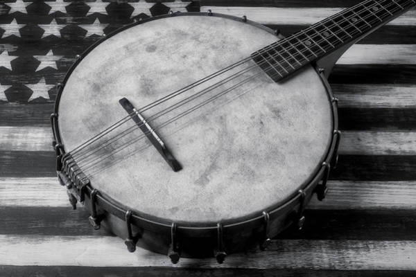Wall Art - Photograph - Old Mandolin Banjo In Black And White by Garry Gay