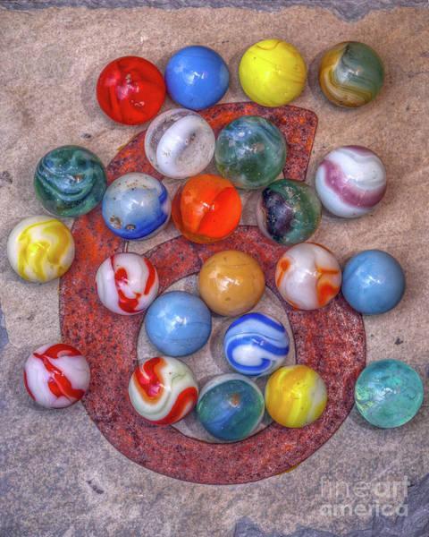 Wall Art - Digital Art - Old Marbles On A Six by Randy Steele