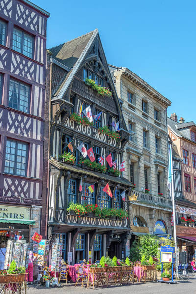 Wall Art - Photograph - Old Market Square, Rouen, Normandy by Jim Engelbrecht