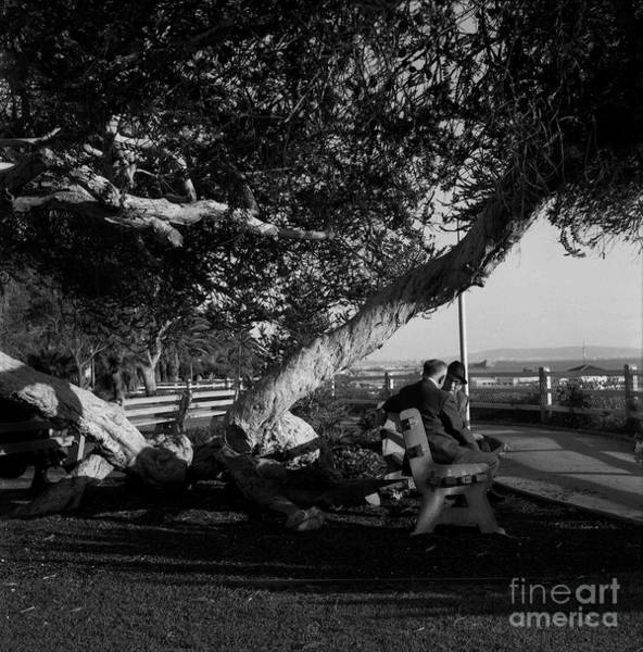Photograph - Old Men Passing The Time On The Ocean Front Walk - Circa 1974 by Doc Braham