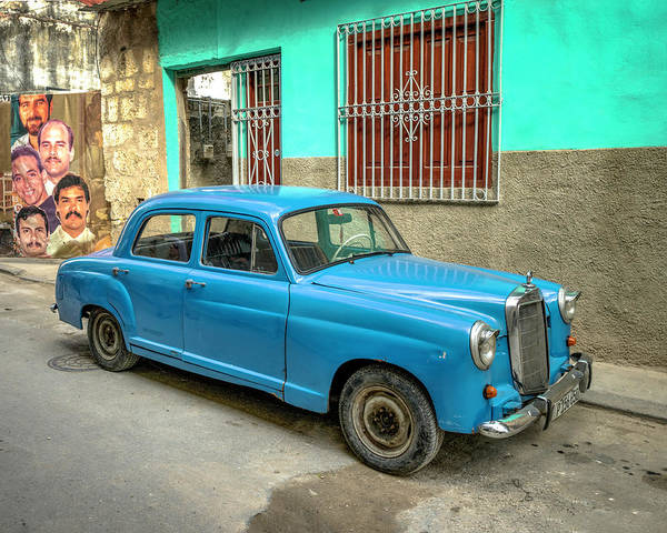 Photograph - Old Mercedes by Laura Hedien