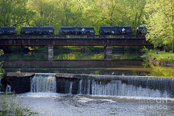 Wall Art - Photograph - Old Mill Dam Terre Haute, Indiana by Steve Gass