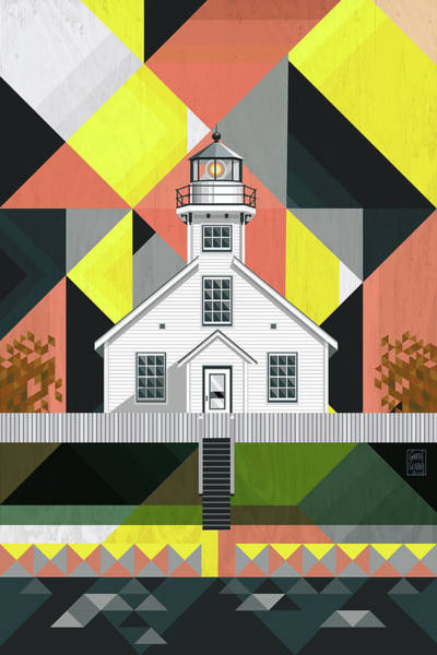Lighthouses Digital Art - Old Mission Point Lighthouse by Garth Glazier