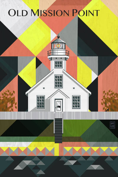 Lighthouses Digital Art - Old Mission Point Michigan by Garth Glazier