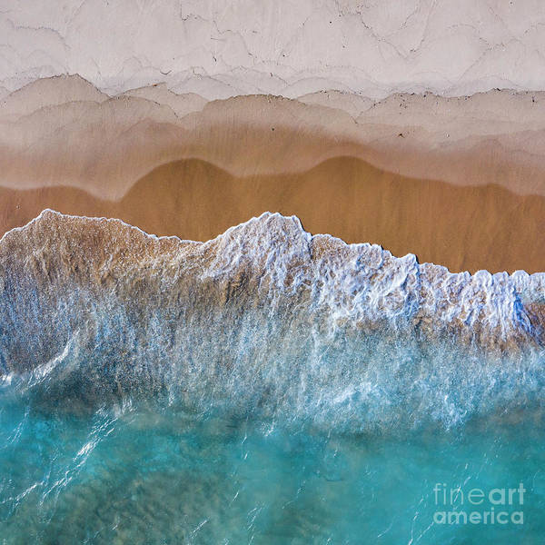 Wall Art - Photograph - Old Mission Waves Aerial by Twenty Two North Photography