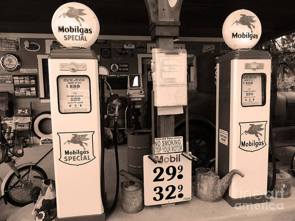 Wall Art - Photograph - Old Mobilgas Station by Beverly Guilliams