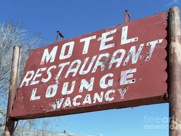 Photograph - Old Motel Neon by Tony Baca