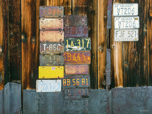 Wall Art - Photograph - Old Nevada Plates by Leland D Howard