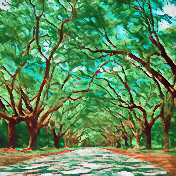 Wall Art - Painting - Old Oak Avenue South Carolina by Dan Sproul