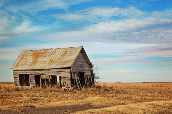 Wall Art - Photograph - Old Oklahoma Barn by Ricky Barnard
