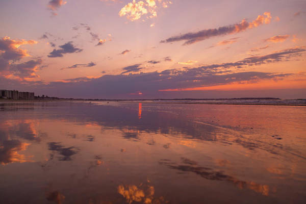 Old Glory Wall Art - Photograph - Old Orchard Beach Glorious Sunset by Betsy Knapp