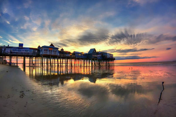 Photograph - Old Orchard Beach Maine Sunrise by Joann Vitali